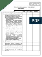 CAMO Checklist