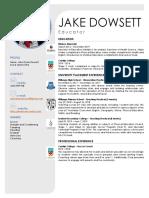 jake dowsett resume 2019