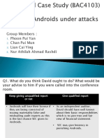 Isc- Case 2 Androids Under Attack Presentation