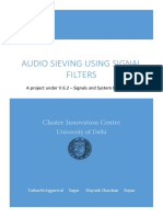 Audio Sieving Using Signal Filters