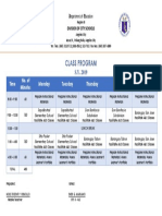 Class Program 2019