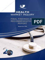 Health Market Inquiry Report
