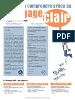 Fiche Aide-mémoire Langage Clair