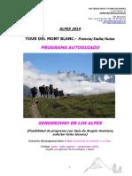 f.t. Tour Del Mont Blanc Autoguiado 2019