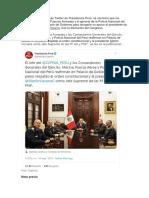 A Través de La Cuenta de Twitter de Presidencia Perú