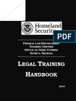 FLETC Legal Training Handbook 2019