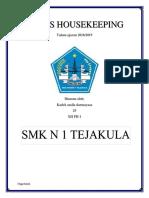Struktur Organisasi Di Tata Graha Atau Housekeeping