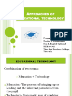 Approaches of Educational Technology (ICT)