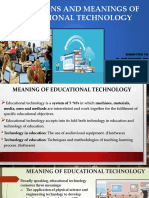 Definitions and Meanings of Educational Technology