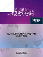 Corruption in Pakistan Since 2008