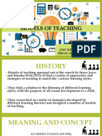 Models of Teaching Ict