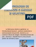 Tehnologia de Fabricare a Cleiului Și Gelatinei