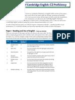 Cambridge English C2 Proficiency Exam Overview