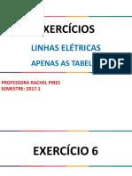 Linhas Elétricas - Tabelas Para Correção Dos Exs. 6_7_8