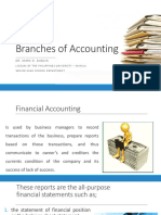 Accounting - II. Branches of Accounting