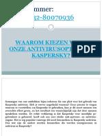 Waarom Kiezen Voor Onze Antivirusoptie Van Kaspersky?