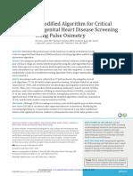 A Modified Algorithm for Critical Congenital Heart Disease Screening Using Pulse Oximetry