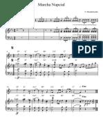 Marcha Nupcial Mib Marimba y Clarinete Sib