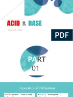 ACID & BASE