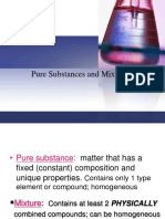 Pure Substances Mixtures and Solutions