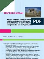 Presentasi Workshop Direktorat Nilai Sejarah Listyanto
