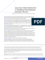 Primary Care Interventions for Early Childhood Development