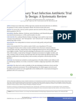 Urinary Tract Infection Antibiotic Trial Study Design