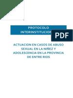 Protocolo Interinstitucional de Actuación en Casos de ASI en Entre Ríos
