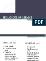 Sequences of Service-1