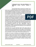 LA SITUACIÓN QUE PREVALECE EN EL PAÍS CON RESPECTO A LA INSEGURIDAD ALIMENTARIA, SOCIAL, POLÍTICA JURÍDICA Y ECONÓMICA (REPORTE)