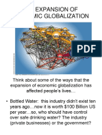 The Expansion of Economic Globalization 1
