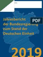 Jahresbericht der Bundesregierung zum Stand der Deutschen Einheit 2019
