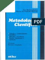 Lakatos e Marconi - Metodologia científica