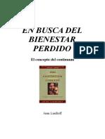 En Busca Del Bienestar Perdido- Continiumm-Jean Liedloff