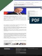 Rusia Llamó a EE UU a Recuperar El Sentido Común Tras Nuevas Sanciones