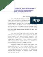 Berbagai Kelemahan Undang-undang Nomor 32 Tahun 2009