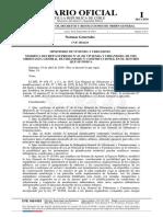 Las publicación del decreto supremo en el Diario Oficial