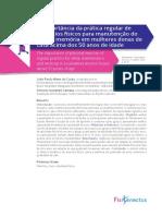 A Importância Da Prática Regular de Exercícios Físicos Para Manutenção Do Sono e Memória Em Mulheres Donas de Casa Acima Dos 50 Anos de Idade