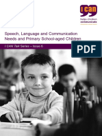 Speech Language and Communication Needs and Primary School Aged Children