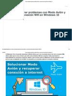 Como Solucionar Problemas Con Modo Avión y Recuperar La Conexión Wifi en Windows 10