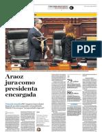 Araoz Jura Como Presidenta Encargada