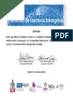 Certificado Monitor II Seminario Marcio