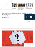Get to Know the Political Parties in the Philippines