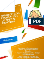 Vision, Policy, Goal and Objectives of SPED