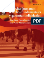 Fierro Ferráez, Ana, Derechos humanos, derechos fundamentales y garantías individuales, Oxford University Press México 2016