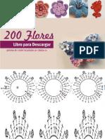 200 flores a crochet