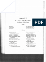 Translation of Mass and Requiem mass texts