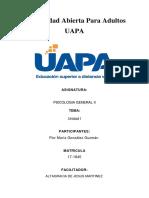 UPA Psicologia General II Tarea 1