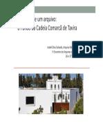 As Voltas de Um Arquivo - o Fundo da Cadeia Comarcã de Tavira