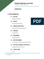 Memoria descriptiva saytococha tramo II sector 14+700 a 30+000